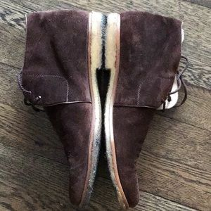 GUC Salvatore Ferragamo suede boots w/ gum sole